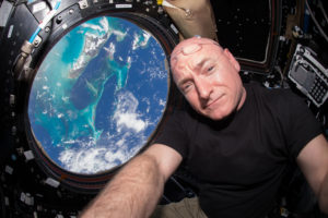 Astronaut Scott Kelly spent a year in space. Researchers put him through a barrage of tests to find out what extended space travel does to a human body. Photo courtesy of NASA/Scott Kelly