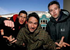 The Beastie Boys, (L-R) Mike Diamond, Adam Horowitz and Adam Yauch, are photographed at the 2006 Sundance film festival in Park City, Utah. Photo by Mario Anzuoni/Reuters