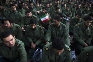 Members of the revolutionary guard attend the anniversary ceremony of Iran's Islamic Revolution at the Khomeini shrine in the Behesht Zahra cemetery, south of Tehran, February 1, 2012. Photo by Raheb Homavandi/Reuters
