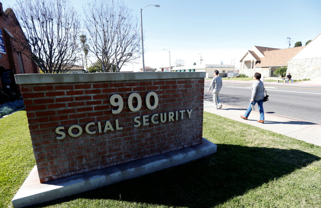 The Social Security Office is seen in Alhambra, California in 2017. Photo by Mario Anzuoni/Reuters