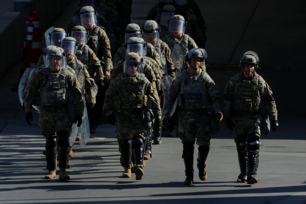 U.S. Military troops return from a test deployment with U.S. Custom…