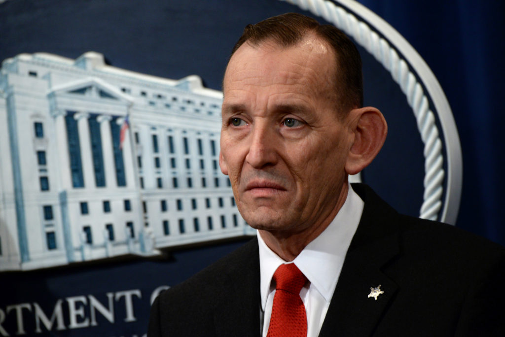 """Secret Service Director Randolph Alles participates in a news conference about """"significant law enforcement actions related to elder fraud"""" in Washington, D.C. Photo by Erin Scott/Reuters"""