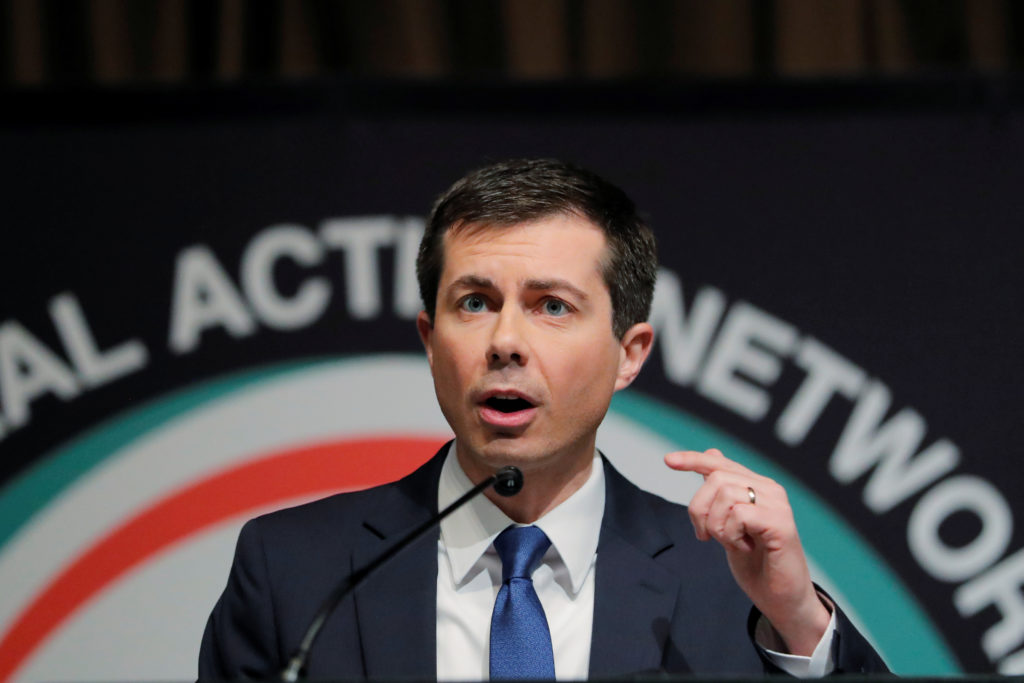 2020 Democratic presidential candidate Pete Buttigieg speaks at the 2019 National Action Network National Convention in New York. Photo by Lucas Jackson/Reuters