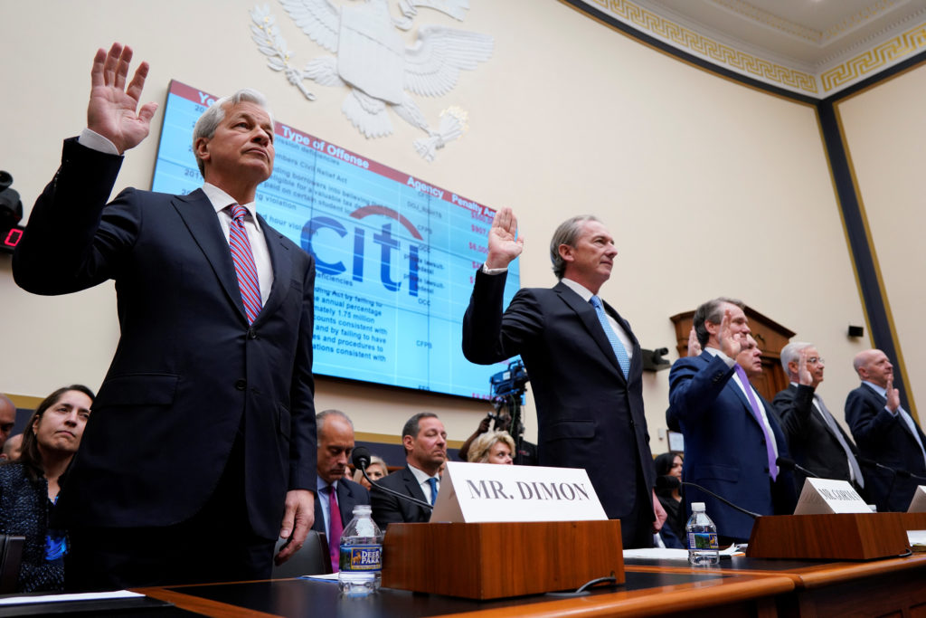 CEOs of big banks defend more resilient financial system