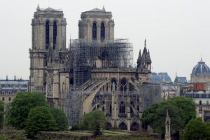 A view shows Notre-Dame Cathedral after a massive fire devastated large parts of the gothic gem in Paris. Photo by Gonzalo Fuentes/Reuters
