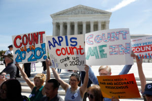 Demonstrators gather outside the U.S. Supreme Courthouse in Washington, D.C. Photo by Shannon Stapleton/Reuters