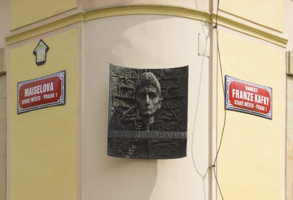 A plaque in Prague commemorates author Franz Kafka in Prague. Photo…