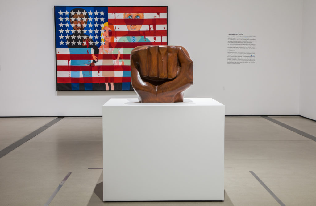 """""""Black Unity,"""" 1968, by Elizabeth Catlett, as seen at The Broad Museum in Los Angeles. Photo by Pablo Enriquez/Courtesy of The Broad Museum"""