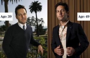 "Paul Rudd poses for a portrait in Santa Monica, California on March 15, 2009 (left). Paul Rudd poses for a portrait while promoting the movie ""Ant-Man and the Wasp"" in Pasadena, California, U.S., June 24, 2018. (right) Photo by Mario Anzuoni/REUTERS"