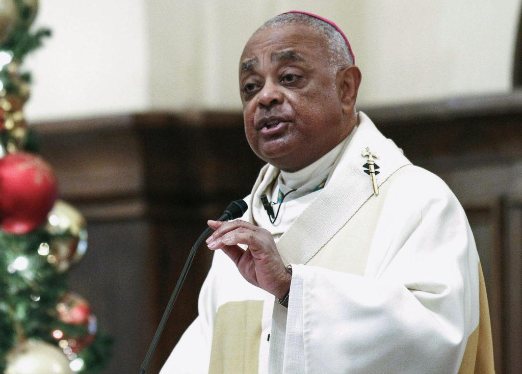 Roman Catholic Archbishop of Atlanta Wilton Gregory speaks to paris…