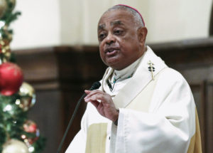 Roman Catholic Archbishop of Atlanta Wilton Gregory speaks to parishioners in Atlanta, Georgia on December 5, 2013. Photo by Tami Chappell/Reuters