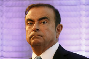 Carlos Ghosn, former chairman and CEO of the Renault-Nissan Alliance, attends a news conference on October 6, 2017. Photo by Charles Platiau/Reuters