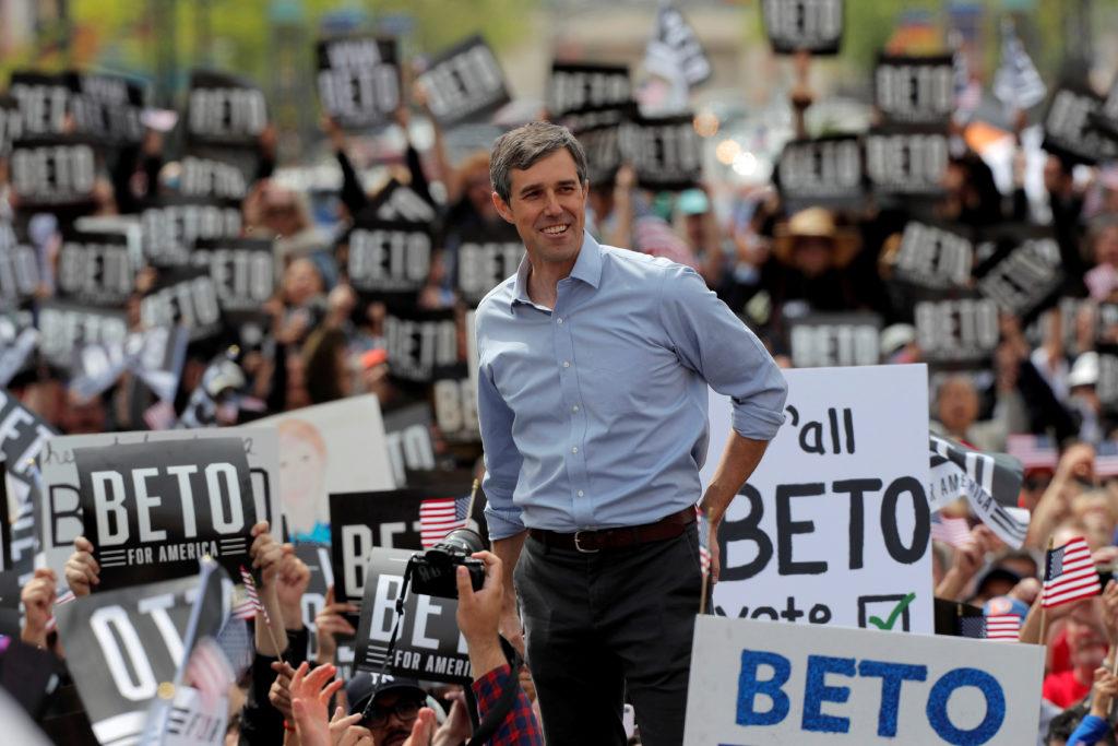 Democratic 2020 U.S. presidential candidate Beto O'Rourke attends a…