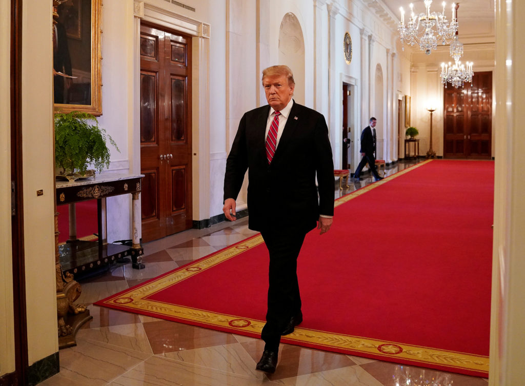 """President Donald Trump at the """"2019 Prison Reform Summit"""" in the Ea…"""