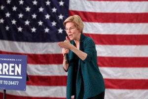 Democratic 2020 U.S. presidential candidate and U.S. Senator Elizabeth Warren, D-Mass., speaks to supporters in Memphis, Tennessee, on March 17, 2019. Photo by Karen Pulfer Focht/Reuters
