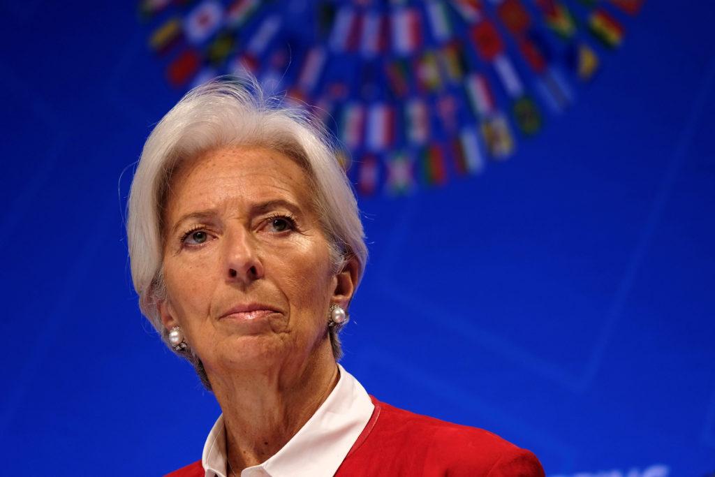 IMF Managing Director Christine Lagarde speaks at the Spring Meetin…