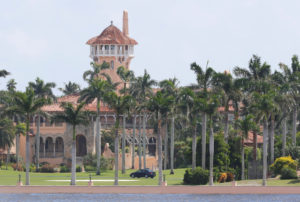 President Donald Trump's Mar-a-Lago mansion is shown on September 8, 2017. Democrats are asking the FBI to investigate potential security vulnerabilities at the resort. Photo by Joe Skipper/Reuters