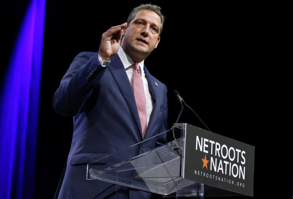 U.S. Representative Tim Ryan, D-Ohio, speaks at the Netroots Nation annual conference for political progressives in New Or...