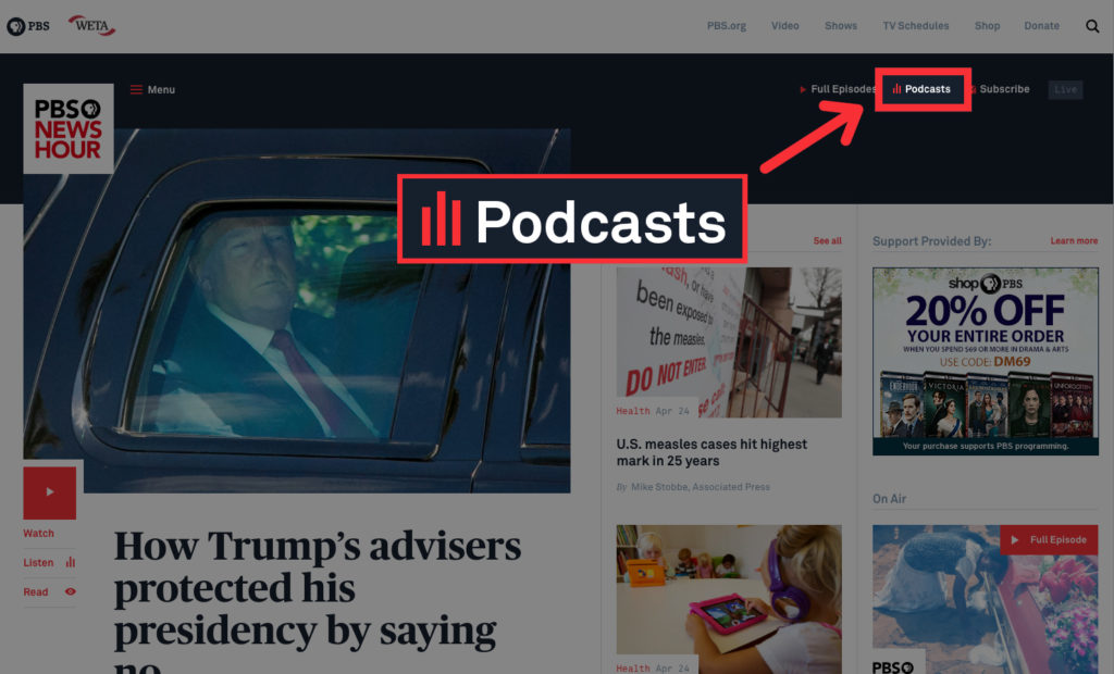 Here's how to listen to PBS NewsHour's podcasts | PBS NewsHour
