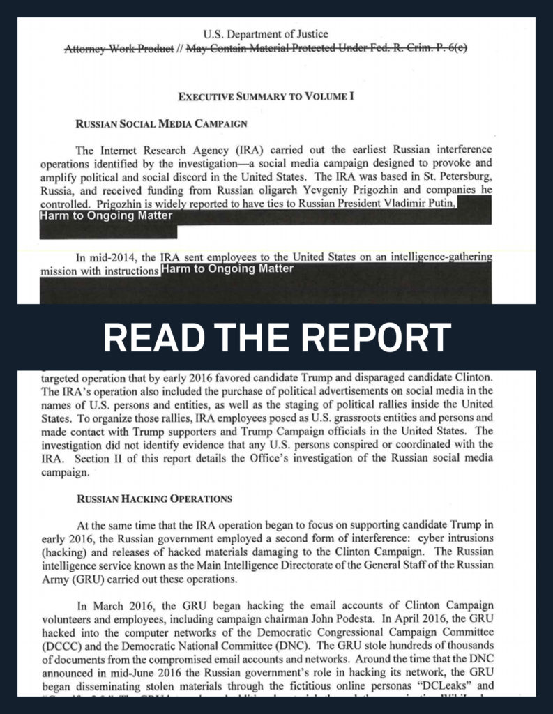 Read the full, redacted Mueller report | PBS NewsHour