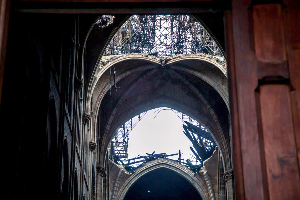 A view shows the organ and a rose window inside the Notre Dame Cathedral in Paris, France, August 28, 2017. Officials at the 854-year old Notre-Dame cathedral, France's most-visited monument, say it is in urgent need of raising 100 million euros ($120.40 million) to repair everything from damaged arches and statutes to broken down gargoyles. Photo by Philippe Wojazer/Reuters