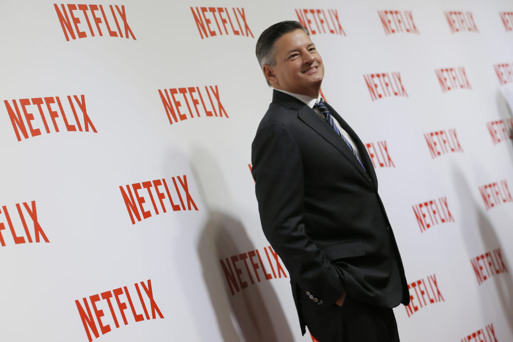 Ted Sarandos, Chief Content Officer of Netflix, attends a red carpet event as Netflix launches its video streaming service...