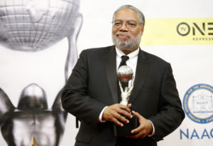 Dr. Lonnie G. Bunch III poses with his President's Award backstage at the 48th NAACP Image Awards in Pasadena, California, on February 11, 2017. Photo by Danny Moloshok/Reuters