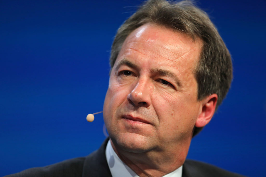 Steve Bullock, Governor of Montana, speaks during the Milken Institute Global Conference in Beverly Hills, California, on May 1, 2017. Photo by Mike Blake/Reuters