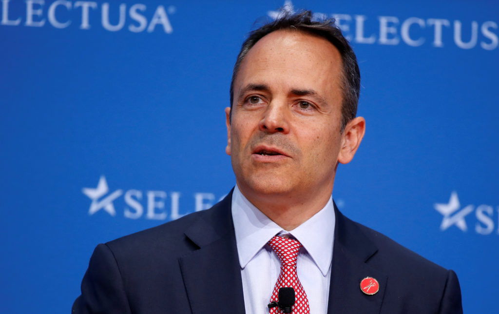 Governor of Kentucky Matt Bevin speaks at 2017 SelectUSA Investment Summit in Oxon Hill, Maryland, on June 19, 2017. Photo by Joshua Roberts/Reuters