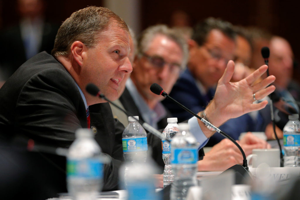 """New Hampshire Governor Chris Sununu speaks at the """"Curbing the Opioid Epidemic"""" session at the National Governors Associat..."""
