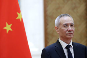 Chinese Vice Premier Liu plans to travel to Washington this week despite President Donald Trump's threats to increase tariffs. Photo by Jason Lee/Reuters
