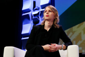 Chelsea Manning speaks at the South by Southwest festival in Austin, Texas, on March 13, 2018. Photo by Suzanne Cordeiro/Reuters