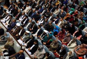 Afghans attend a consultative grand assembly, known as Loya Jirga, in Kabul, Afghanistan April 29, 2019. Photo by Omar Sobhani/Reuters