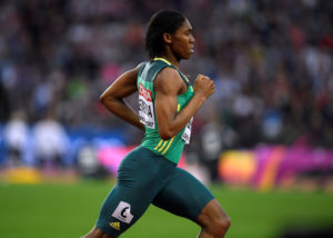 Caster Semenya of South Africa wins the semi-final heat of the 800 meters semi-final at the World Athletics Championships in London on August 11, 2017. Photo by Toby Melville/Reuters