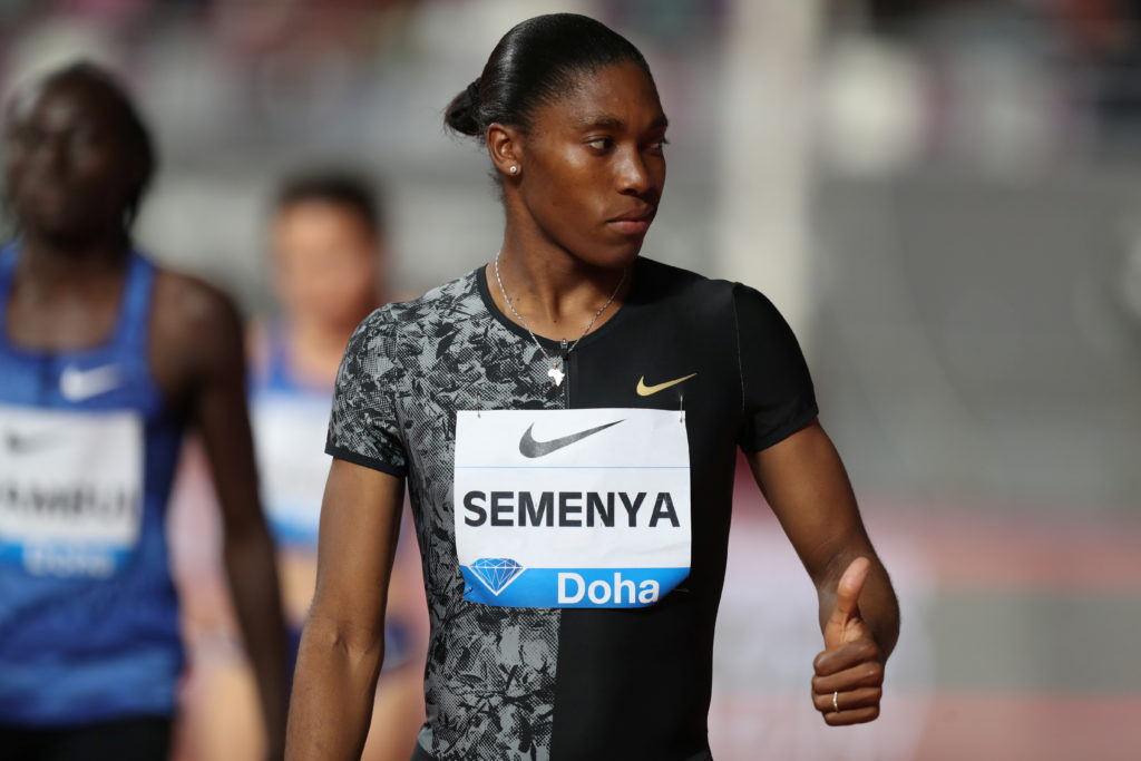 South Africa's Caster Semenya before the women's 800m in the Khalifa International Stadium, Doha, Qatar, May 3, 2019 Photo by Ibraheem Al Omari/Reuters