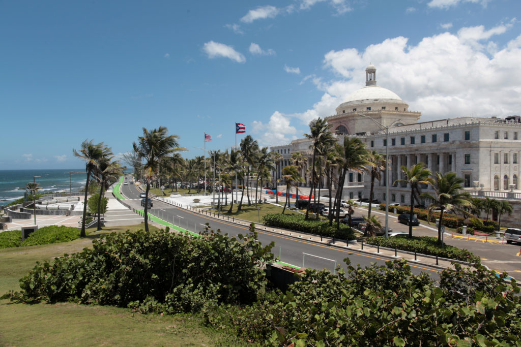 The Capitol building is seen in San Juan, Puerto Rico. Photo by Alvin Baez/Reuters