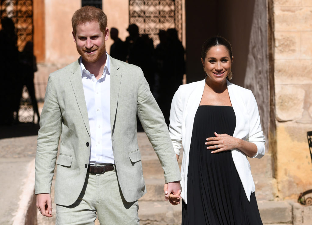 Britain's Meghan, Duchess of Sussex and Prince Harry the Duke of Sussex visit the Andalusian Gardens in Rabat, Morocco on ...