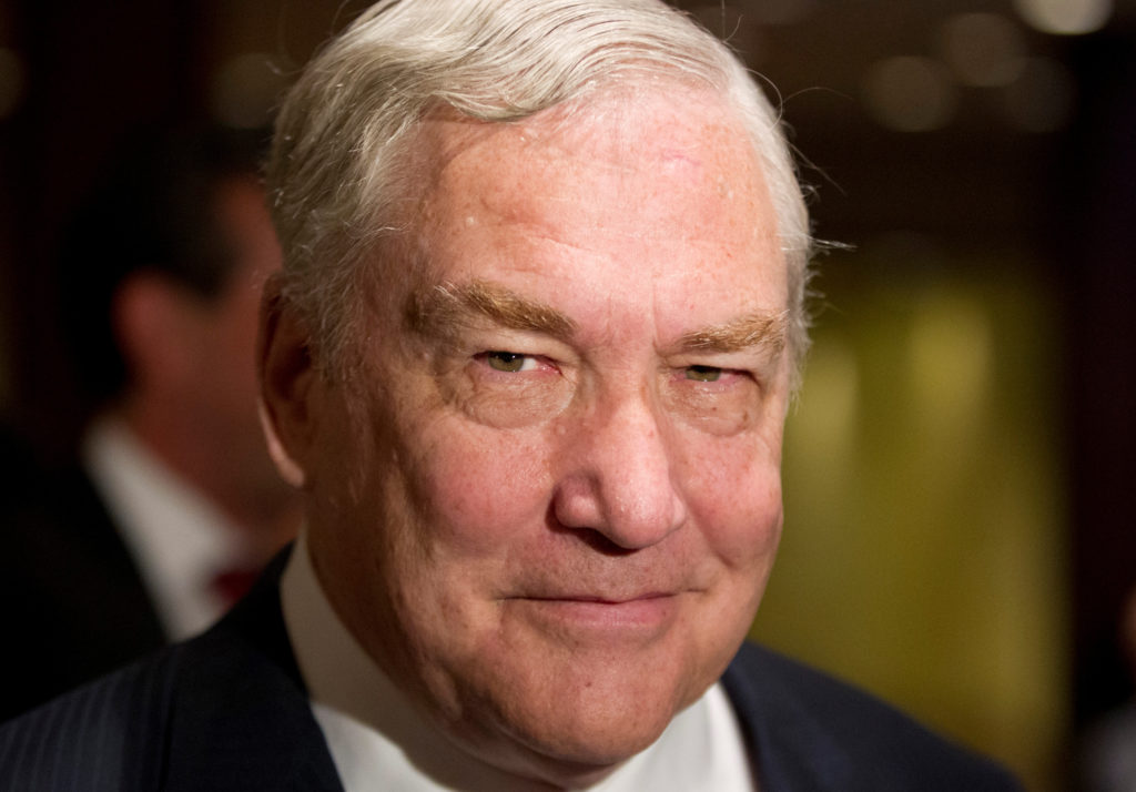 FILE PHOTO: Former media mogul Conrad Black arrives at a business luncheon where he will be making a speech in Toronto, Ca...
