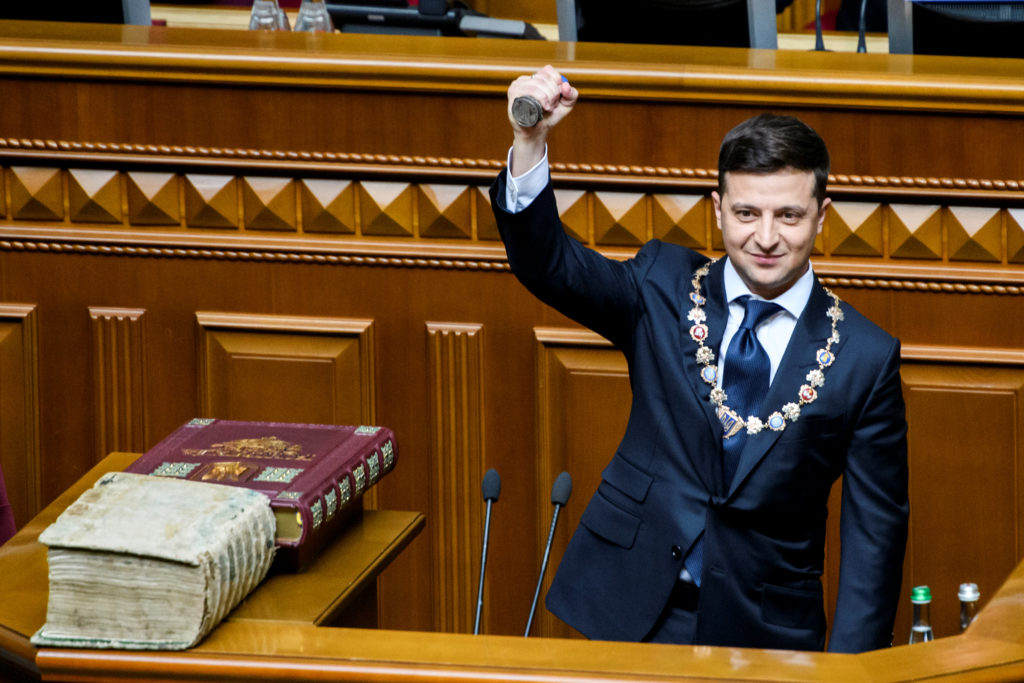 Ukraine's president is sworn in, dissolves parliament