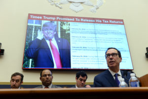 "Treasury Secretary Steven Mnuchin testifies before the House Financial Services Committee hearing on ""The Annual Testimony of the Secretary of the Treasury on the State of the International Financial System"" in Washington, on May 22, 2019. Photo by Mary F. Calvert/Reuters"