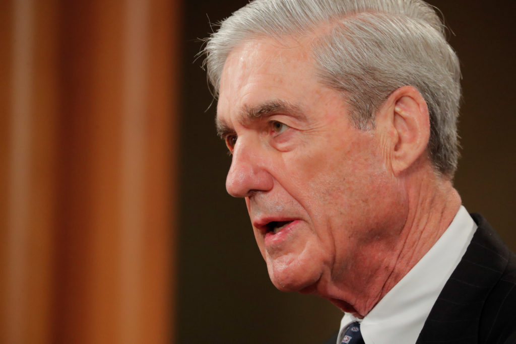 Special Counsel Robert Mueller makes a statement on his investigation into Russian interference in the 2016 presidential e...