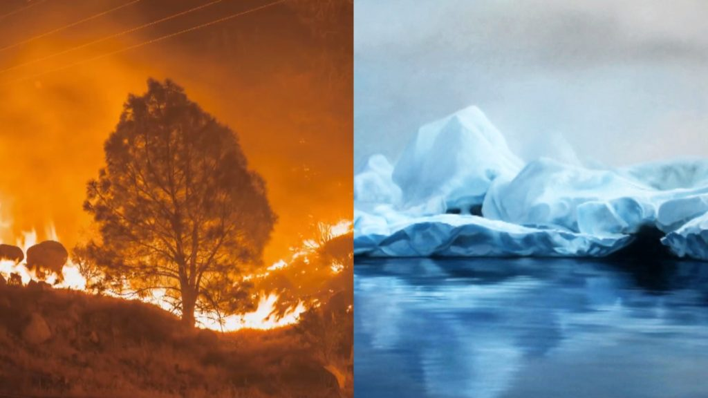 Artists Harness The Power Of Fire And Ice To Shape