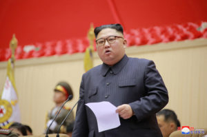 North Korean leader Kim Jong Un holds a military meeting in Pyongyang, North Korea, in this photo released on March 27, 2019 by North Korea's Korean Central News Agency (KCNA). KCNA/via Reuters