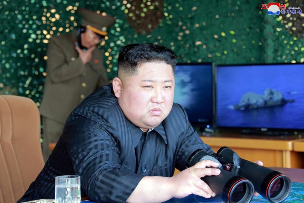 "North Korea's leader Kim Jong Un supervises a ""strike drill"" for mu…"