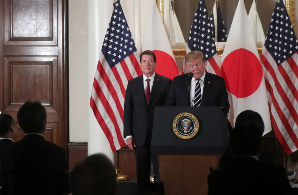 Trump talks 'trade imbalance' on day one of Japan visit