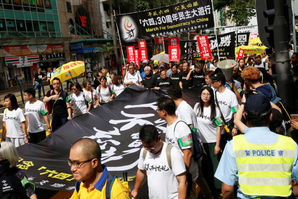 Thousands in Hong Kong commemorate 1989 Tiananmen protests