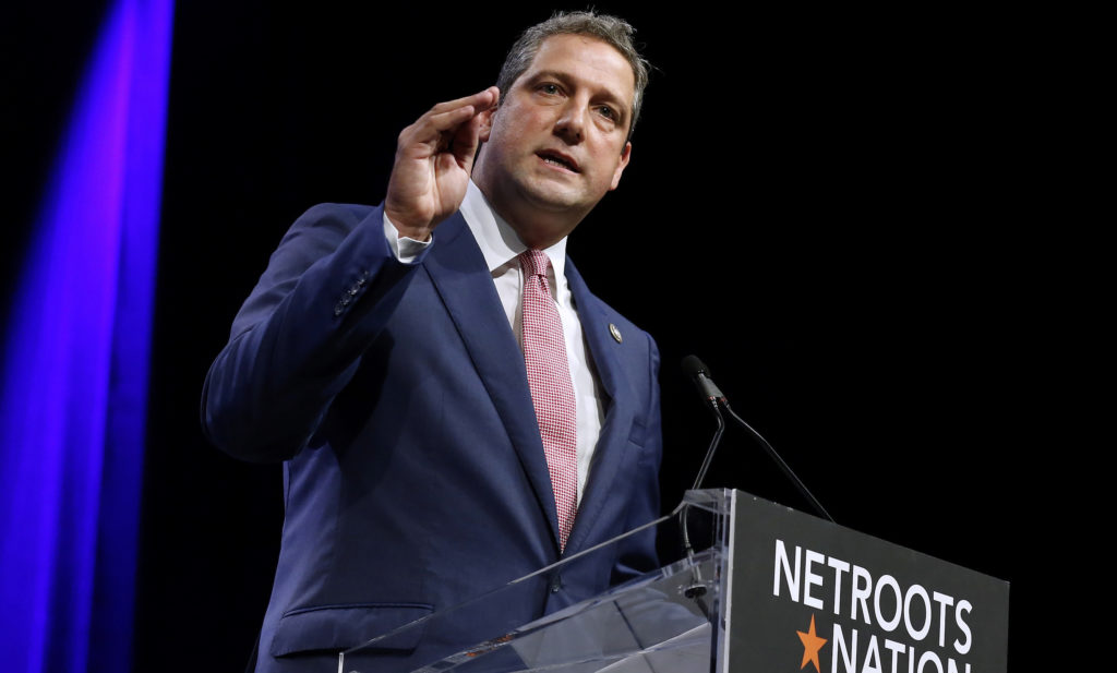 U.S. Representative Tim Ryan (D-OH) speaks at the Netroots Nation annual conference for political progressives in New Orleans, Louisiana, U.S. August 4, 2018. REUTERS/Jonathan Bachman
