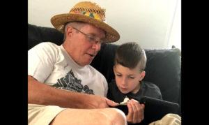 Ronan Mattin, 9, and his grandfather, Stephen Mattin. Photo courtesy of Stephen Mattin
