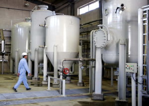 FILE PHOTO: An Interior view of Arak heavy water production facility in Central Iran 360 km (223 miles) south west of Tehran October 27, 2004. Iran will break the uranium stockpile limit set by Tehran's nuclear deal with world powers in the next 10 days, the spokesman for the country's atomic agency said Monday June 17, 2019. Photo via Reuters