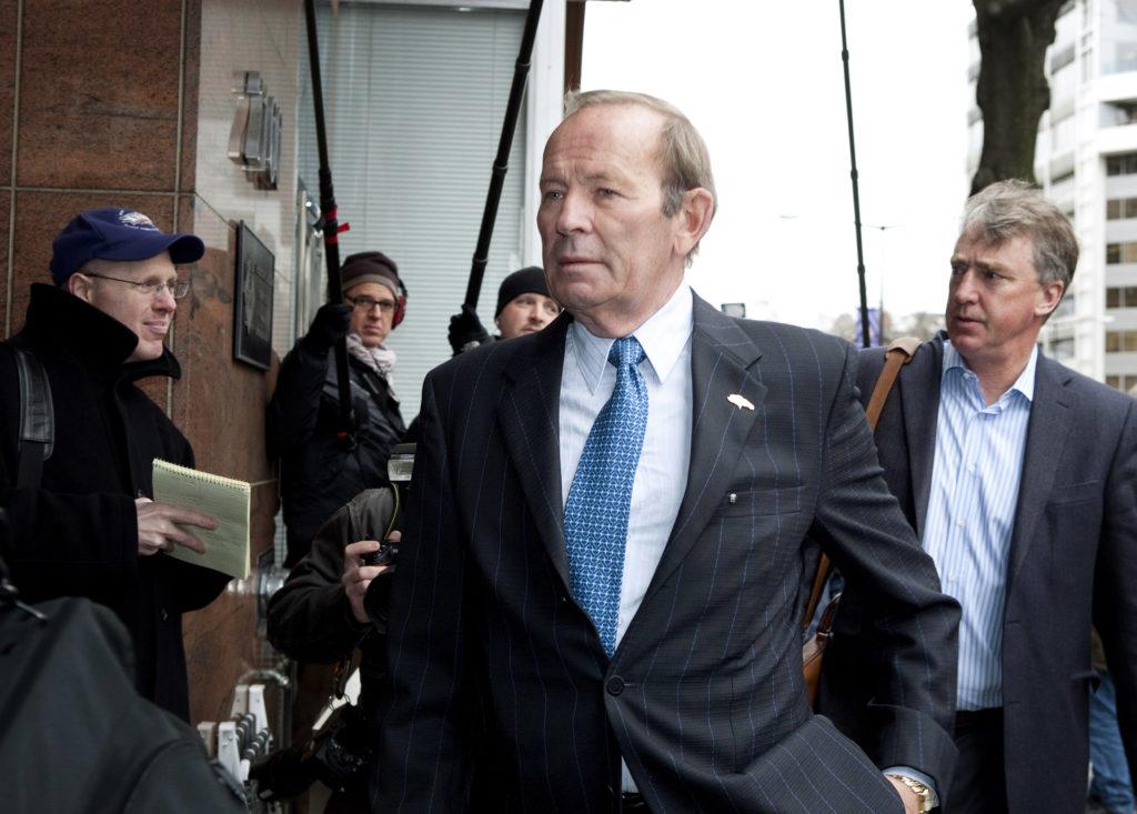 Pat Bowlen, owner of the Denver Broncos, arrives to continue negoti…